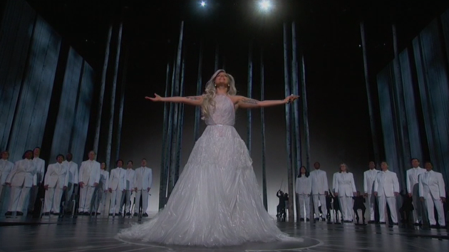 """Lady Gaga brought down the house with her tribute to """"The Sound of Music."""""""