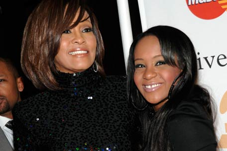 Whitney Houston with Daughter, Bobbi Kristina in happier times.