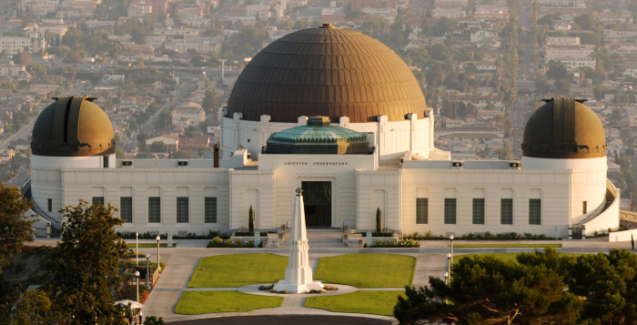 The Griffith Observatory, where author John Logsdon will give a lecture on the American Space Program under President Richard Nixon