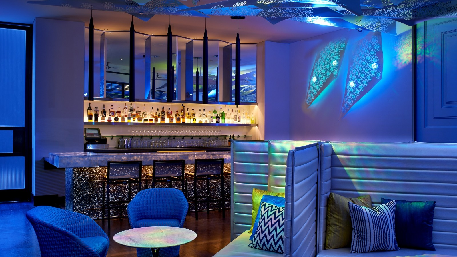 The Living Room Bar At W Los Angeles