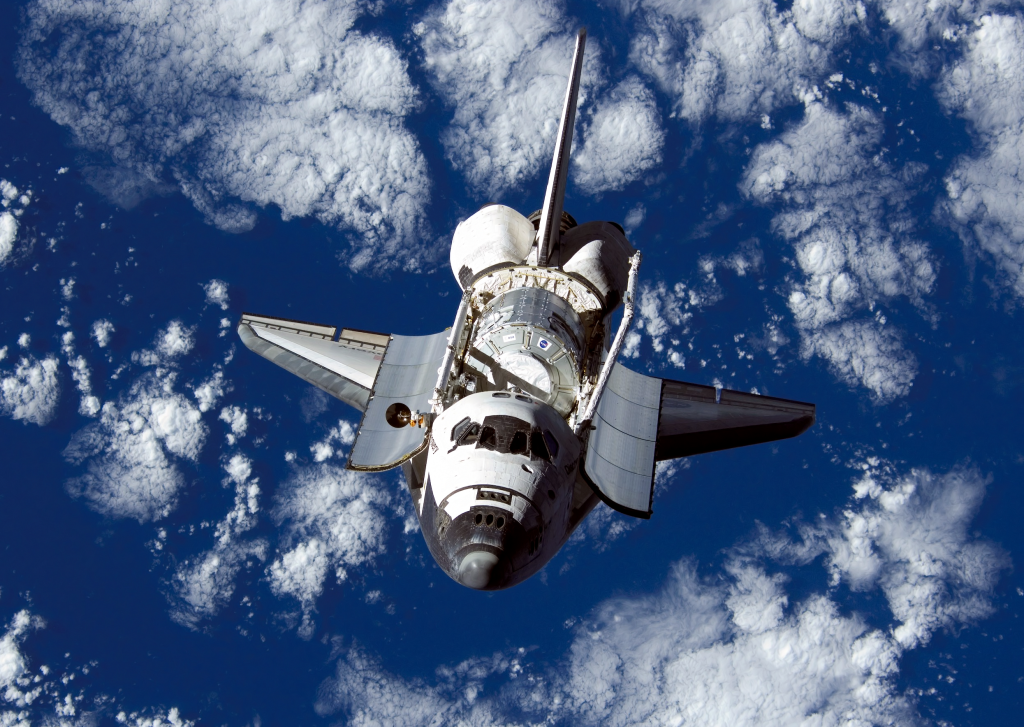 Space Shuttle Discovery, which President Richard Nixon's commitment to the space program made possible