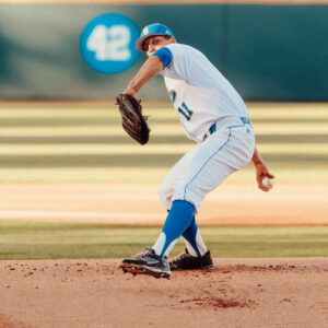 The New York Yankees picked James Kaprielian, right-handed pitcher for the UCLA Bruins, in the first round of the draft. Photo by Steve Cheng.