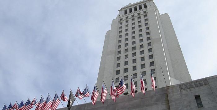 """LA City Hall Ground"" by Jorobeq at English Wikipedia."