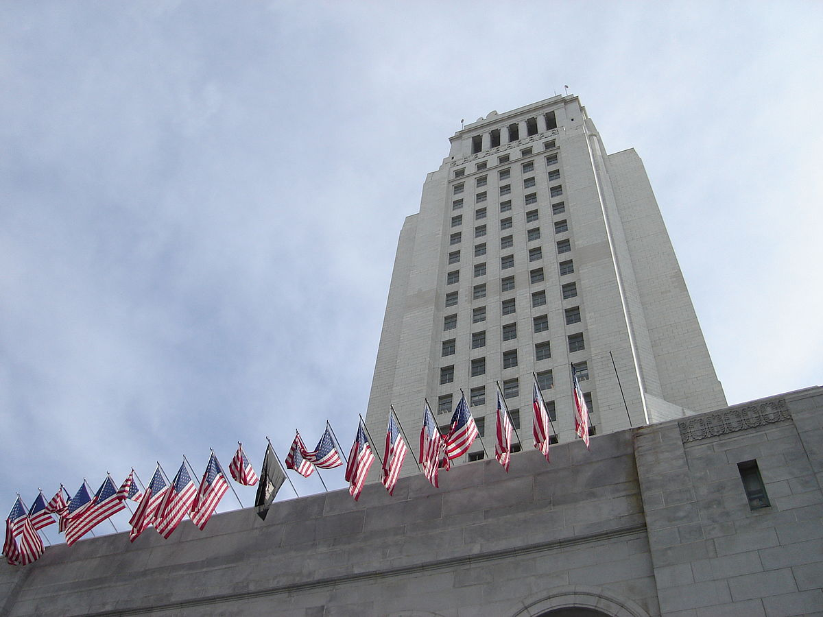 """LA City Hall Ground"" by Jorobeq at English Wikipedia."