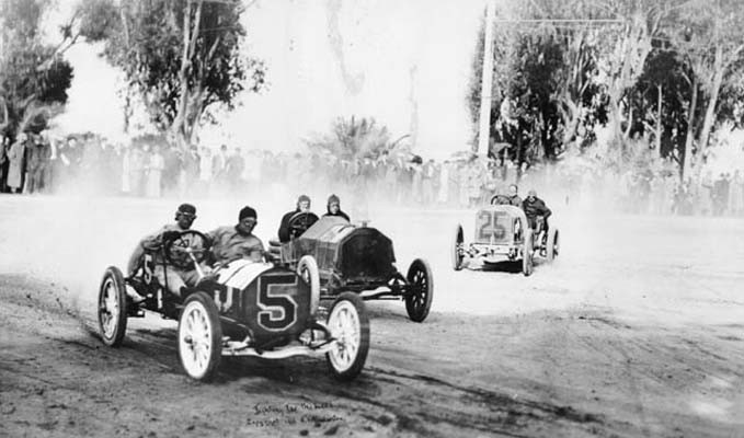 The annual Road Race was held in Santa Monica from 1909-1919.