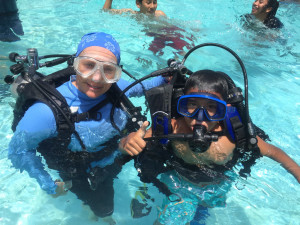 Children learning scuba diving. Photo Courtesy ACFC