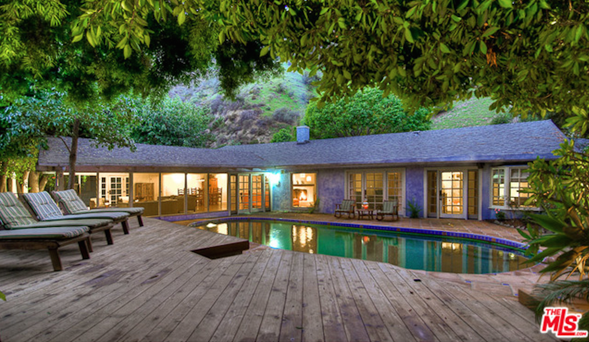 Salma Hayek's rental home. Photo courtesy toplaestates.com