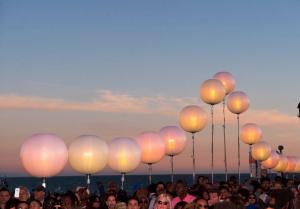The L.E.D. Lanterns lining the Pier.