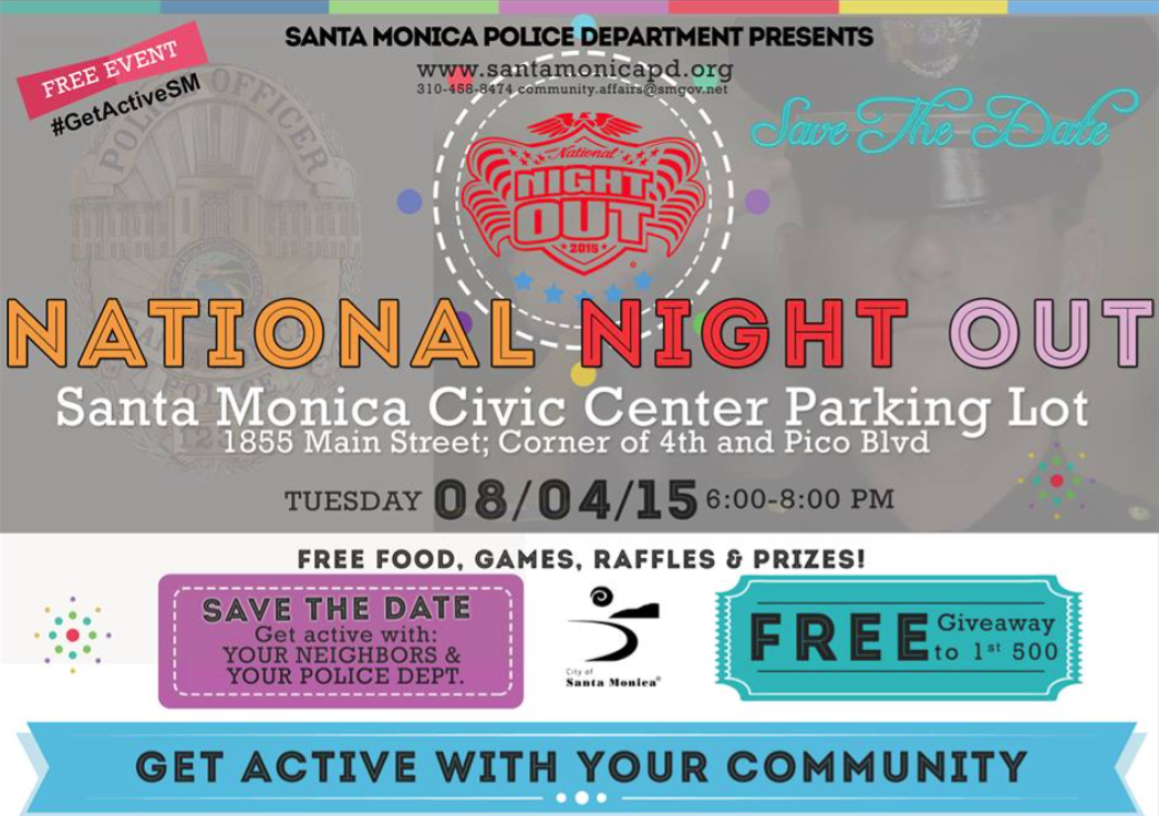 National Night Out. Photo Courtesy Santa Monica Police Department Facebook.