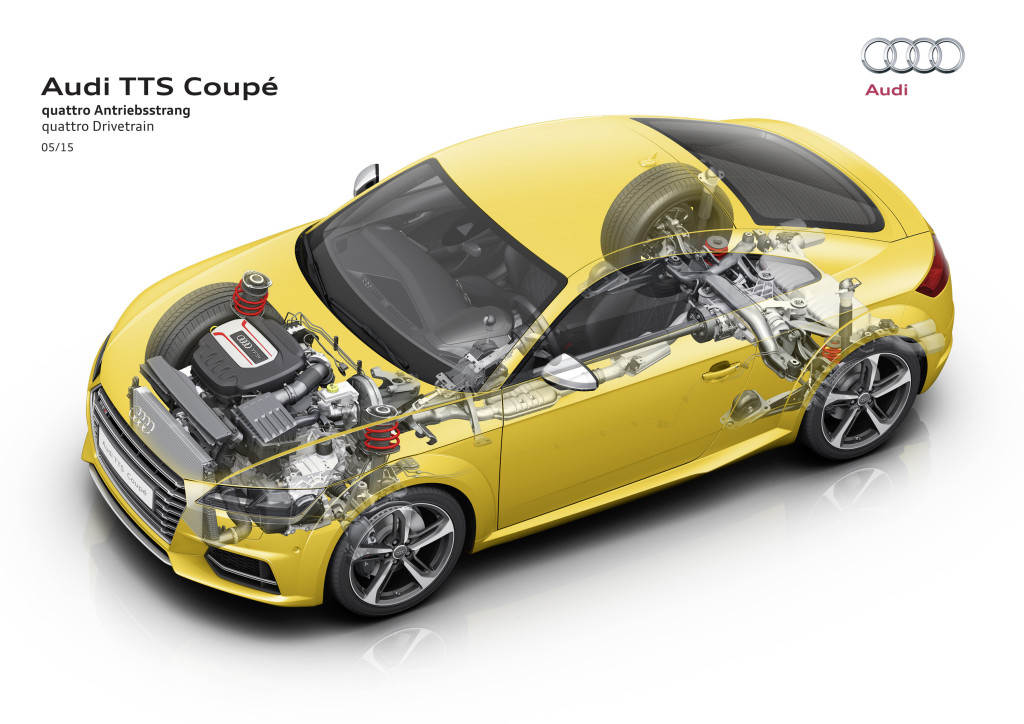 2016 Audi TTS cutaway, graphic courtesy of Audi