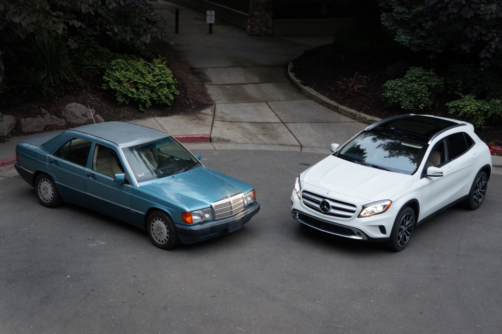 Mercedes benz compact sedans then and now for Compact mercedes benz