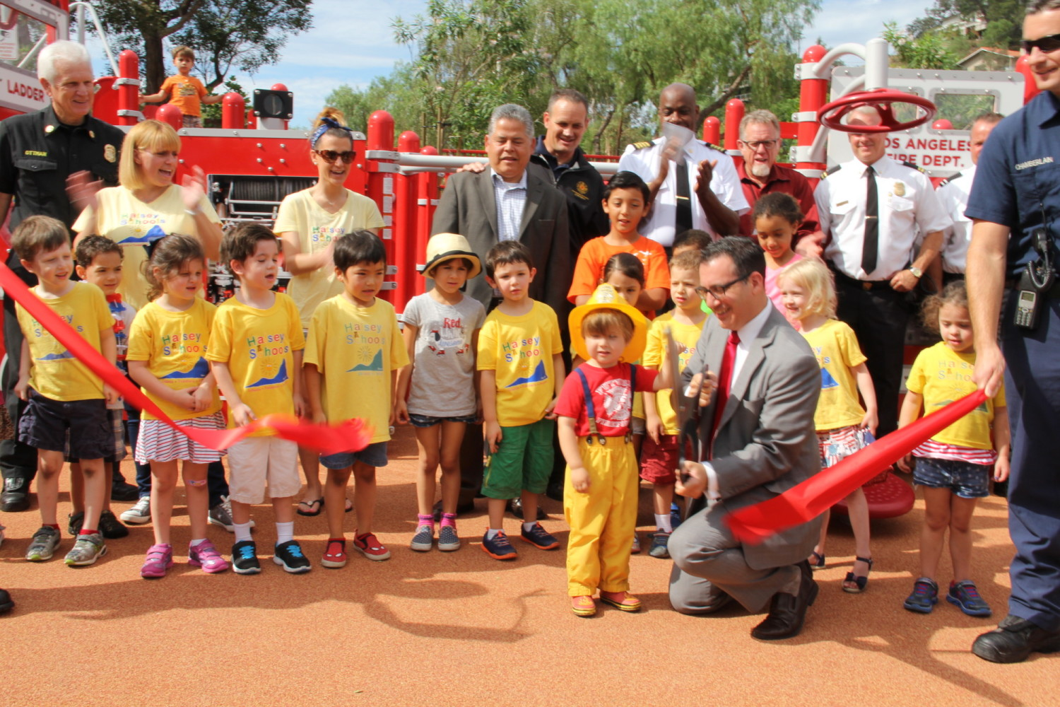 Constanso Ave Fire Station 84 Park's ribbon cutting ceremony on July 2.
