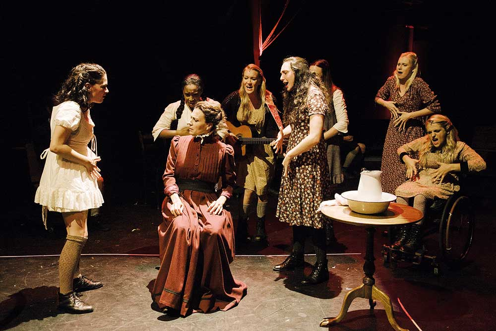 A scene during a performance included in Deaf West Theatre's Los Angeles tour.