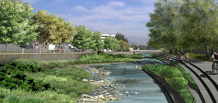 The bid proposed by LA24 names an area near the Los Angeles River as the potential site for constructing an Olympic Village.
