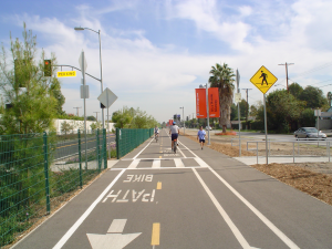 Cycle tracks have already been implemented in the San Fernando Valley, along the Orange Line.