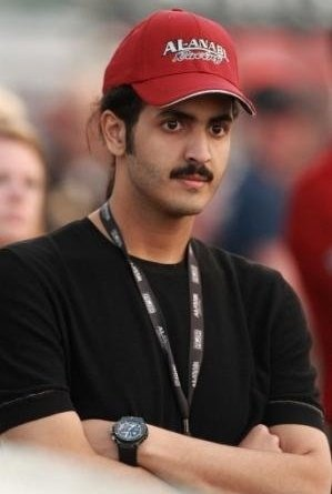 Sheik Khalid Hamad Al-Thani, who owns a drag racing team called Al-Anabi.