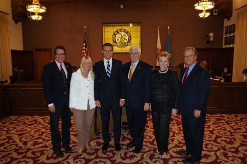 Representatives of the city of Beverly Hills and the state of Israel after signing the joint declaration of formal partnership. Photo courtesy City of Beverly Hills