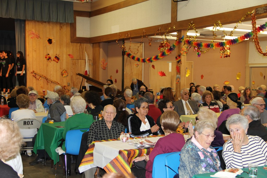 The City of Beverly Hills Community Services put on a Thanksgiving senior lunch in 2012.
