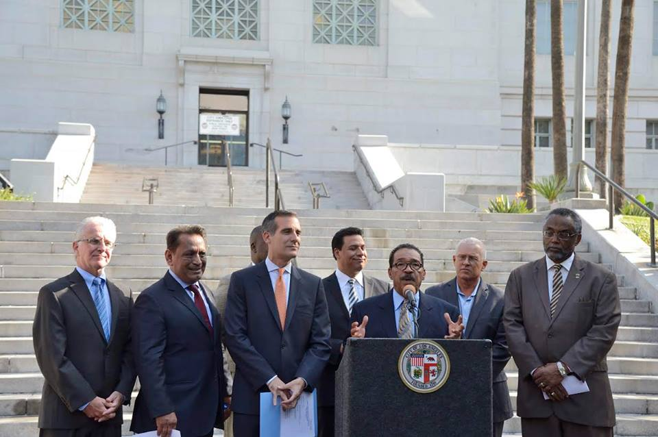 City Council President Herb J. Wesson, Jr. also made remarks. Photo Courtesy Herb J. Wesson, Jr.