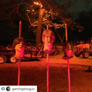 Decorations at the Haunted Hayride.