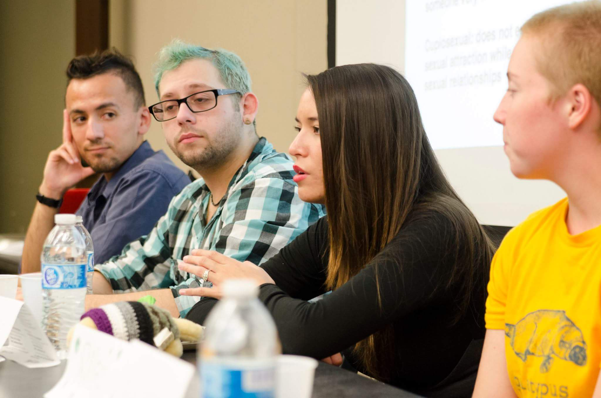 "Four of the panelists of ""Asexuality! The Orientation"". Photo by Shari B. Ellis."