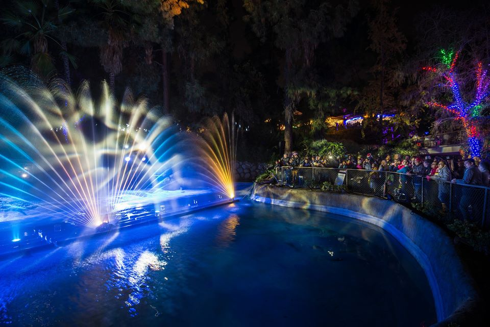 L.A. Zoo Lights Show Festivities
