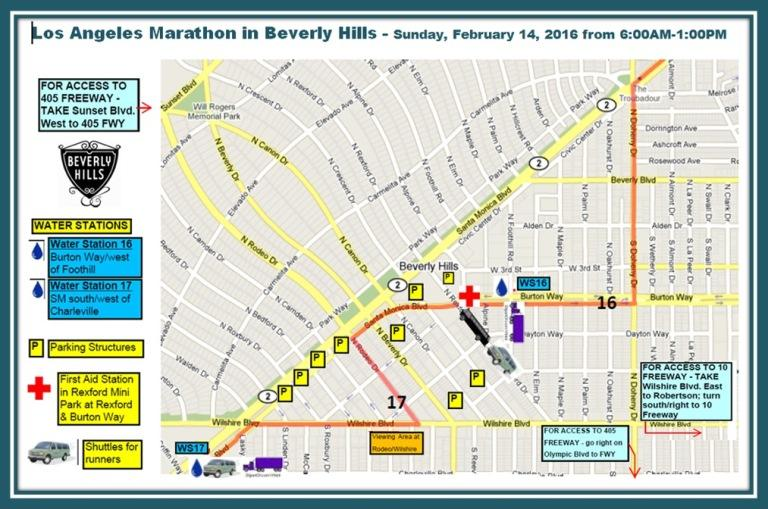 Map Beverly Hills Los Angeles