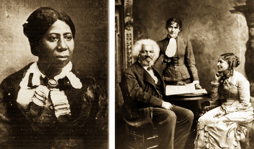 Anna Murray Douglass (left) and Helen Pitts-Douglass (right, sitting) images courtesy Wikimedia Commons.