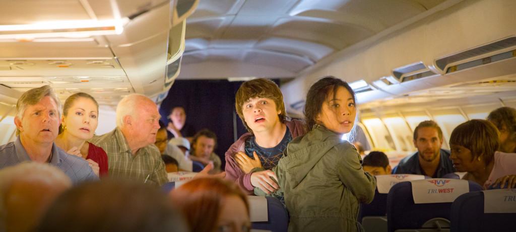 "Michelle Ang's, ""Charlie"", and Brendan Meyers's, ""Jake"", in webseries Fear The Walking Dead: Flight 462"