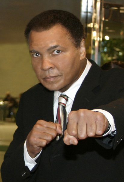 Boxing legend Muhammad Ali.