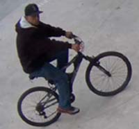 Hollywood Bicyclist Robber was captured by police Tuesday.
