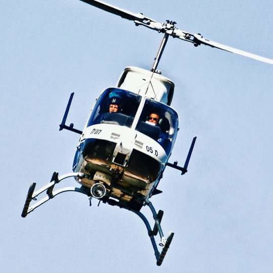 A helicopter had helped locate a suspect.