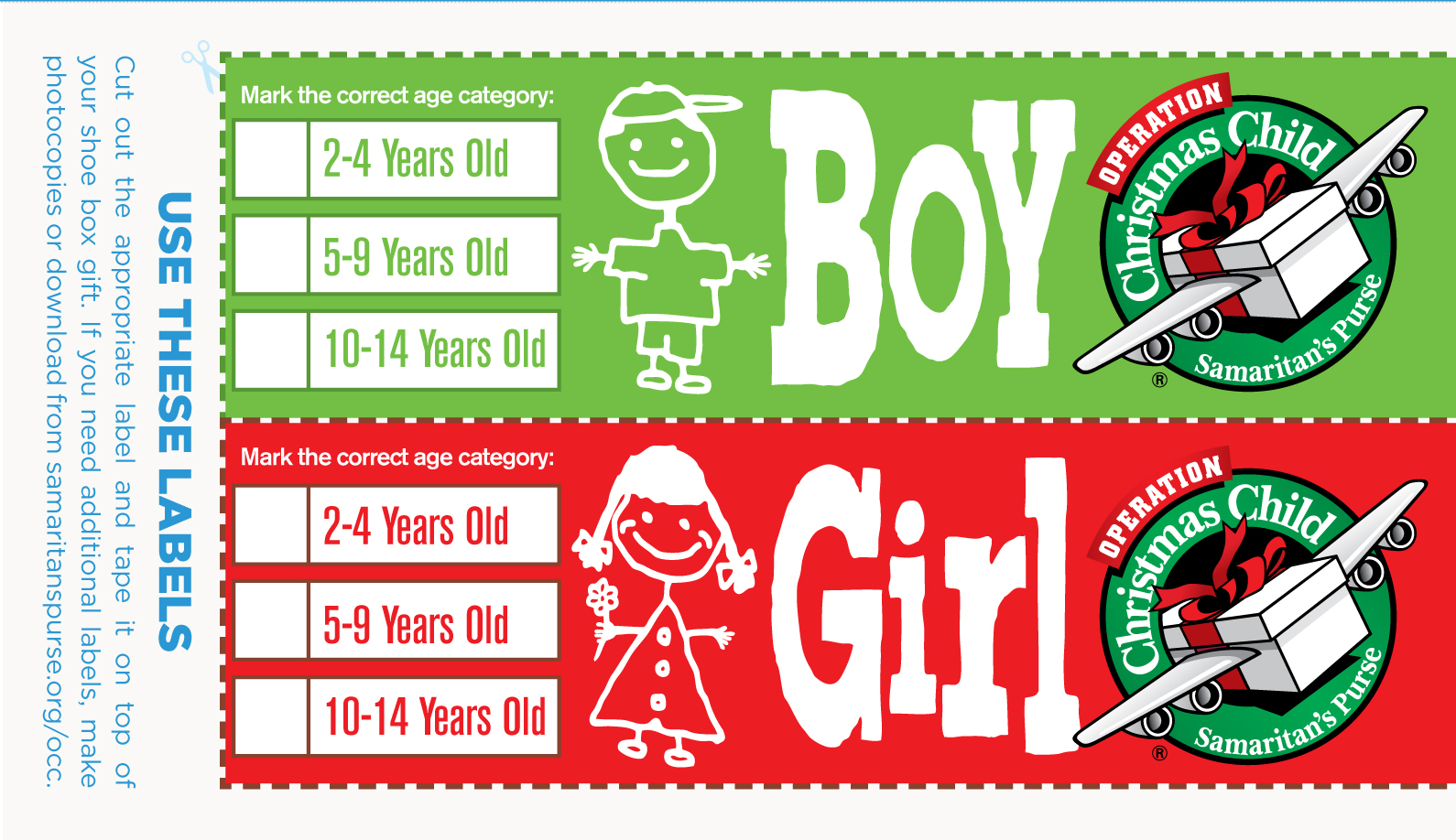 Operation Christmas Child Drop-Off Sites