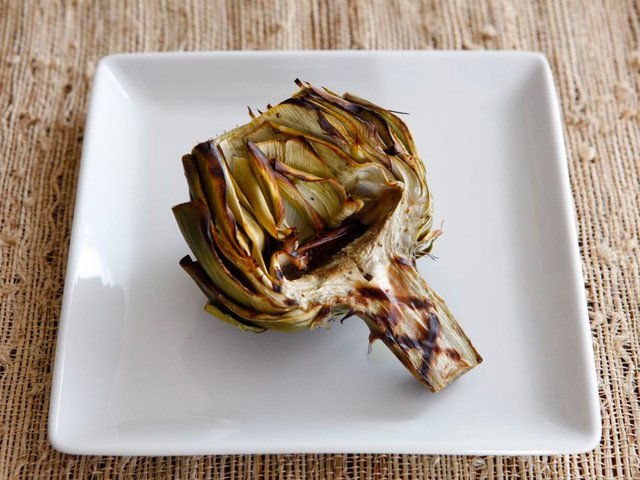 Grilled Artichokes, from Tori Avey