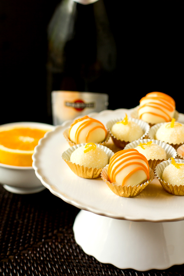 Mimosa Truffles, from Brown Eyed Baker