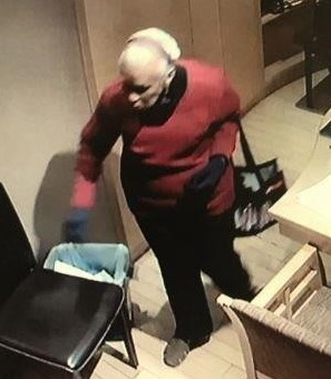 Surveillance of the suspect police are searching for. Photo courtesy of the BHPD.
