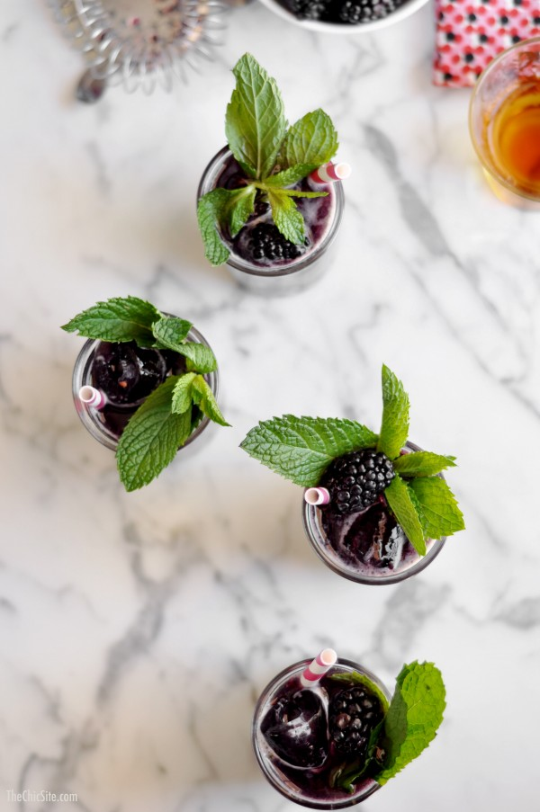 Blackberry Mint Julep, from The Chic Site