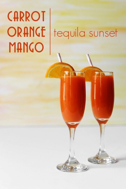 Carrot Orange Mango Tequila Sunset, from Joy The Baker