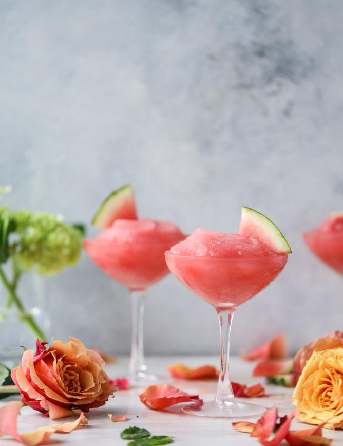 Watermelon Frosé, from How Sweet It Is