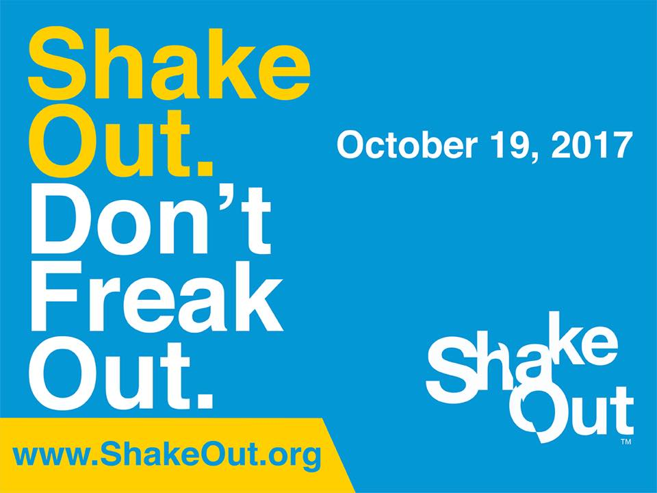 annual shakeout earthquake drill october 19