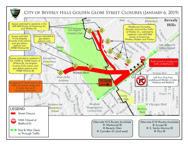 Golden Globes Awards Road Closures - Canyon News