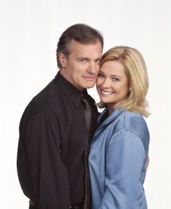 "Stephen Collins and his ""7th Heaven"" co-star Catherine Hicks."