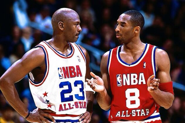 Bryant facing his idol in the NBA All-Star Game.