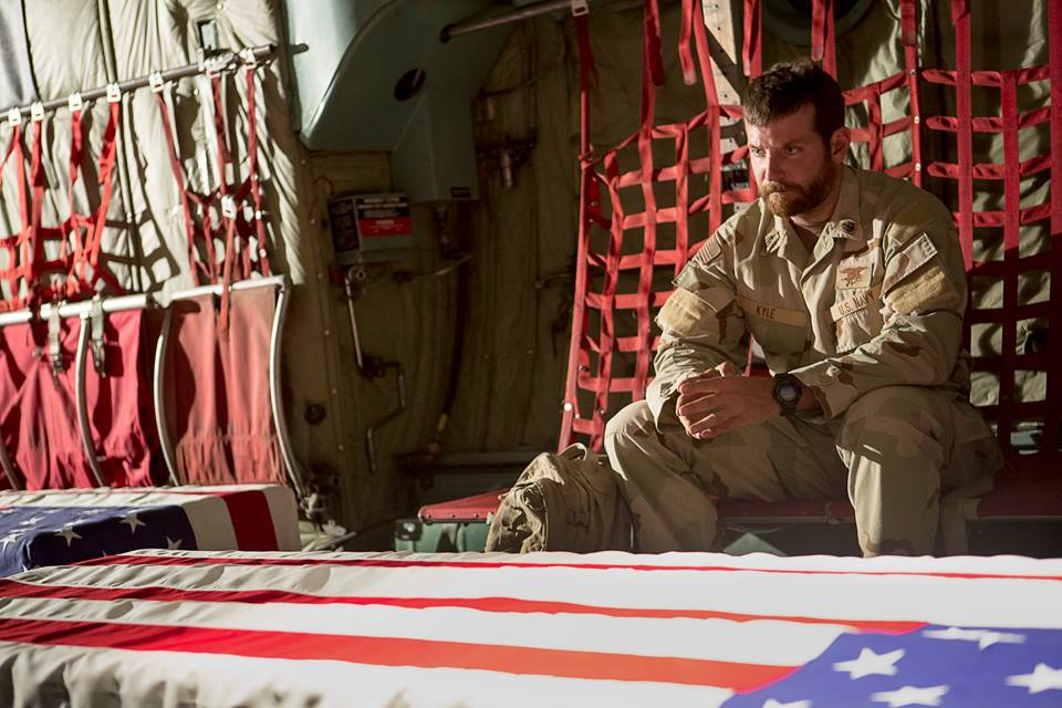 "Bradley Cooper is nominated for Best Actor for his performance in ""American Sniper."""