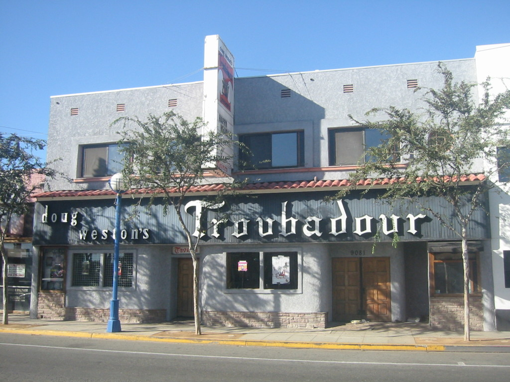 The Troubadour, an iconic nightclub and fixture of West Hollywood's nightlife scene