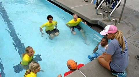 Challenged Athletes Foundation event at MGAC pool. Photo Courtesy Palisades Charter High School