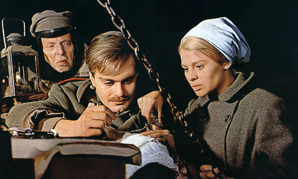 Omar Sharif and Julie Christie in the film Doctor Zhivago. Photo courtesy pinstopins.com