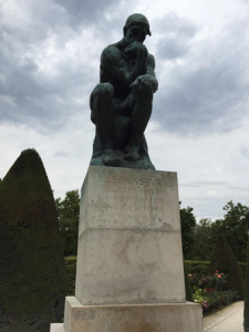"Rodin sculpture, ""The Thinker"""