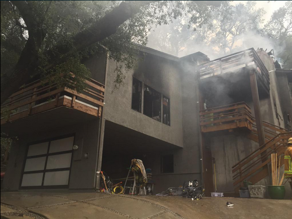 After the fire was declared knocked-down. (Twitter via @LACountyFDPIO)