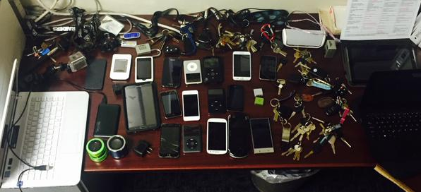 Items confiscated from burglary suspect Israel Padilla, 33, of Oxnard.